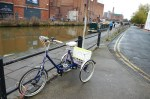 Bike and canal - Chester