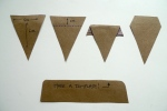 Making a template for mini bunting