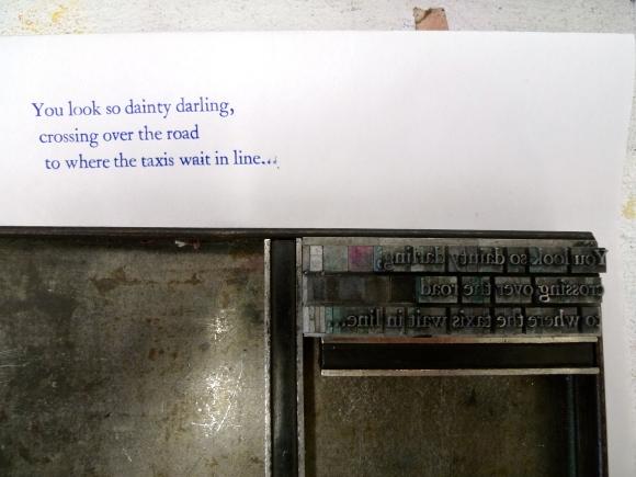 B's first letterpress print