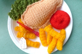 Knitted food at Becnicks