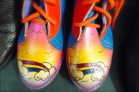 Colourful vintage shoes at Becnicks