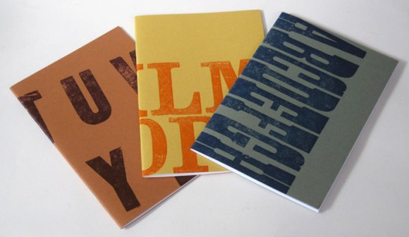 Letterpress Alphabet notebooks by SORT