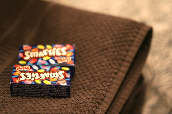 Smarties in the 'hotel'