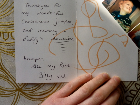 a card from Billy