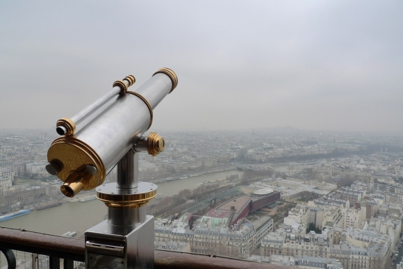 The view from the Eiffel Tower, Paris