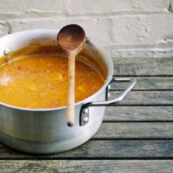 coconut, sweet potato and chilli soup