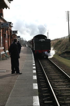 Steam train on the Great Central Railway