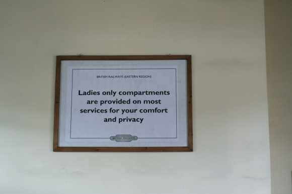 Sign in Ladies Waiting Room, Loughborough