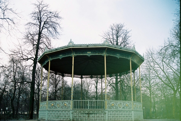 bandstand in park de Bruxelles