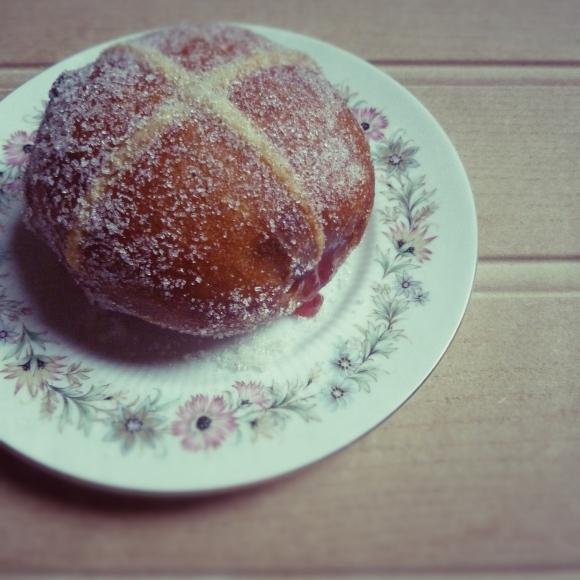 hot cross doughnut