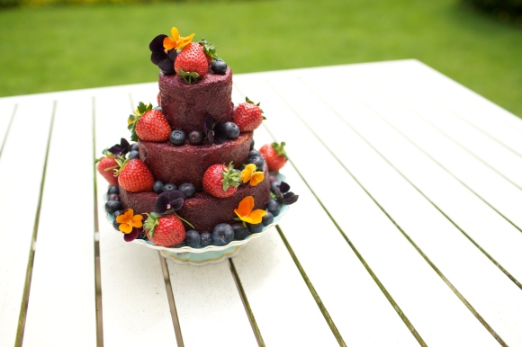 Summer pudding cake