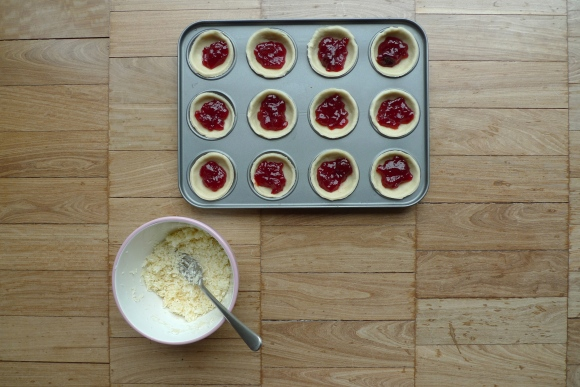 Making jam tarts