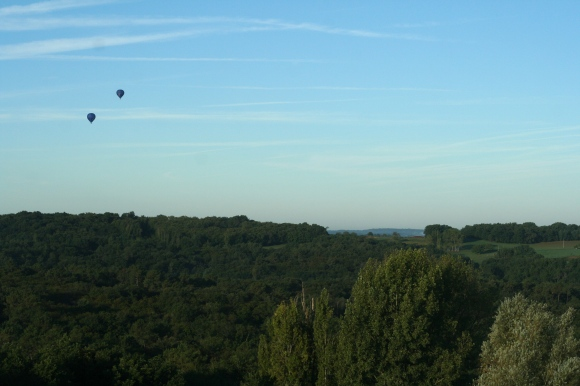 Hot air balloons in Dordogne, France