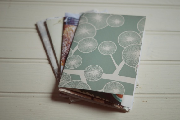 begin by making 4 little books-to be sewn all together