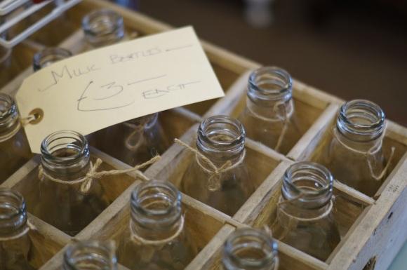 vintage milk bottles