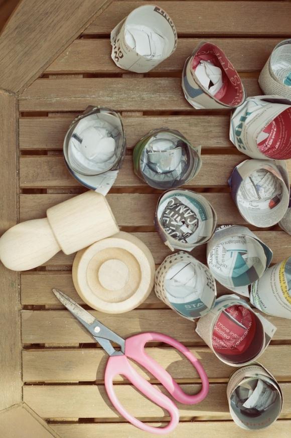 homemade paper pots