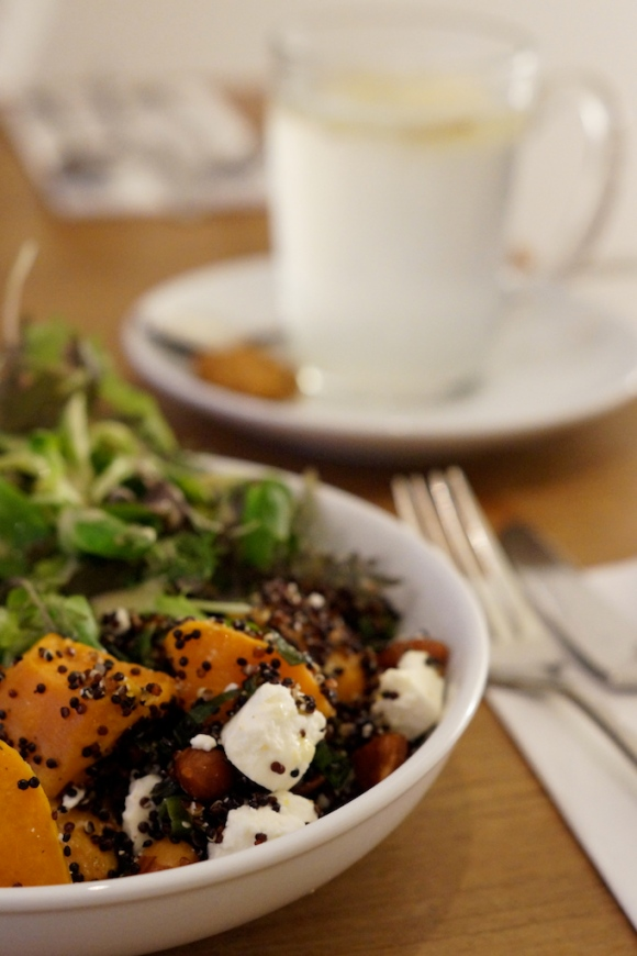 pumpkin and black quinoa salad