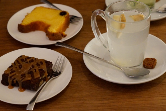 ginger tea and cake- vinnies