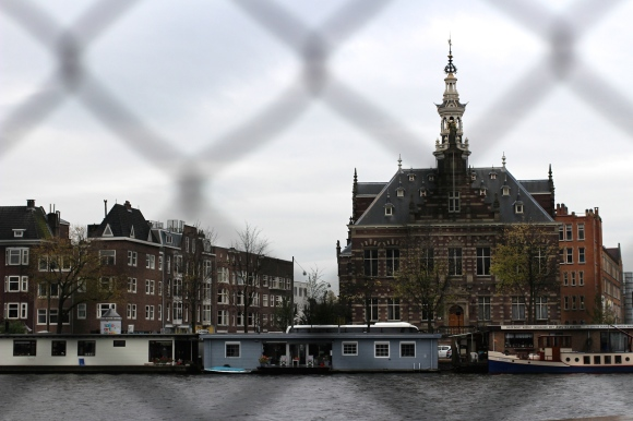 Building on Amsterdam canal