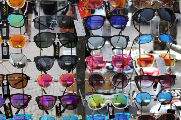 Sunglasses in an Amsterdam market