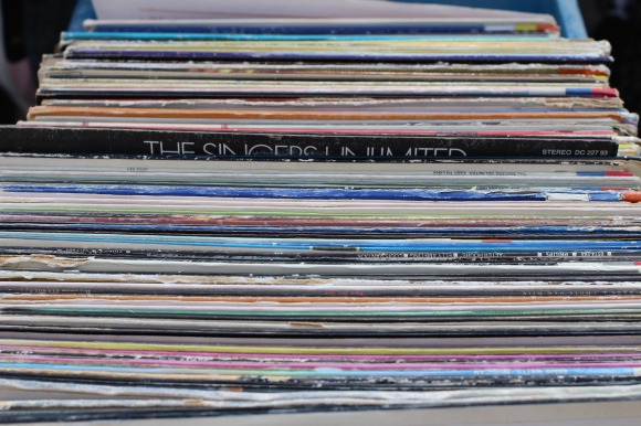 Records in an Amsterdam market