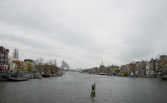 river amstel in the mist
